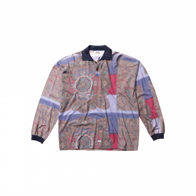 Pailsey printed tactel polo shirt