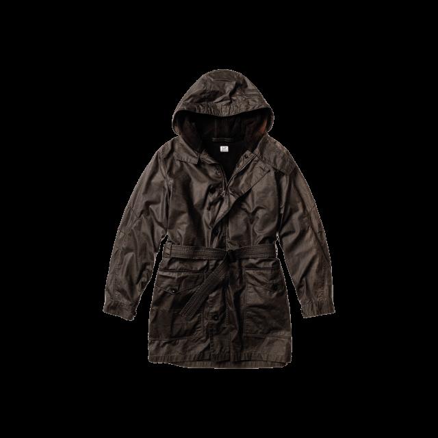 Overdyed Cotton Trench Jacket