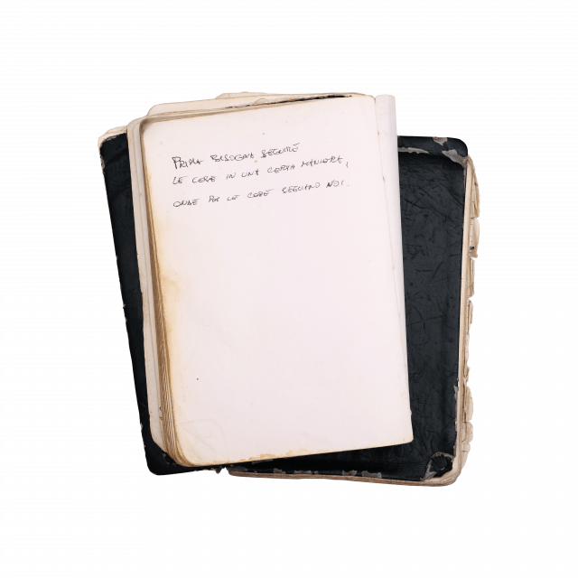 Massimo Osti's notes