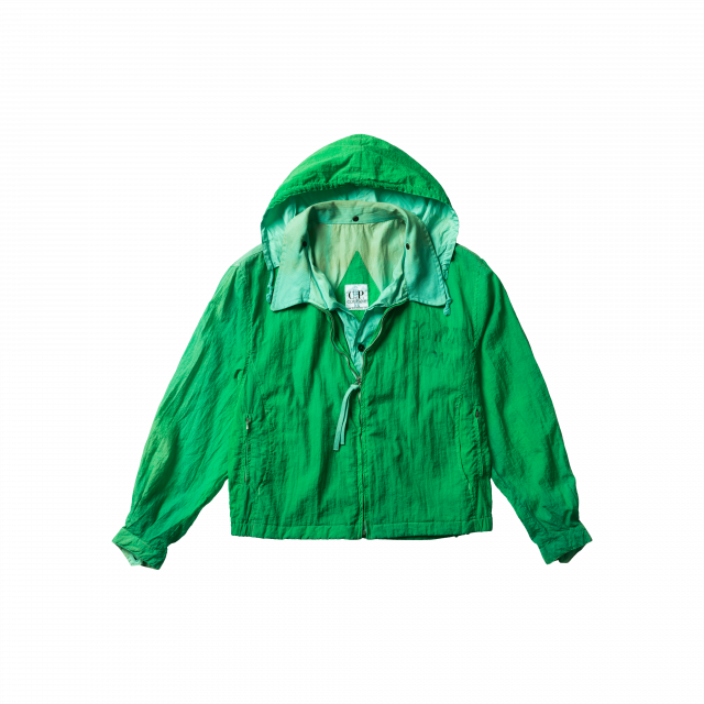 Garment Dyed Nylon Short Jacket